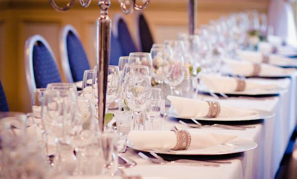 Dekket bord på Villa Lilleborg