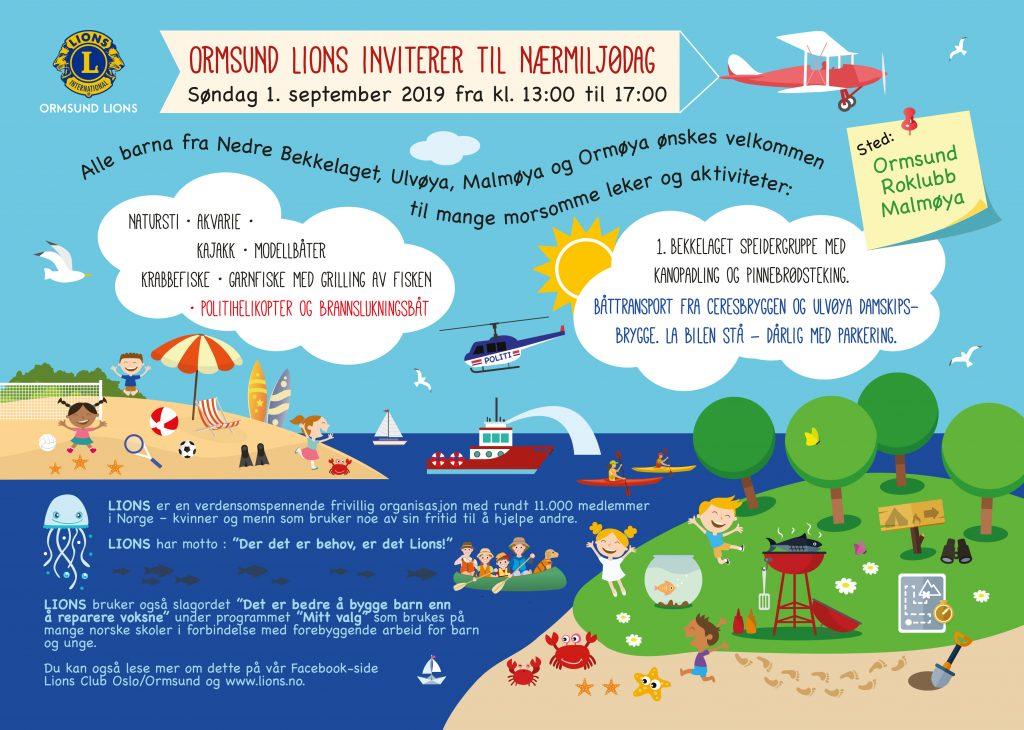 Ormsund Lions arrangerer Nærmiljødag 1. september fra 13.00–17.00